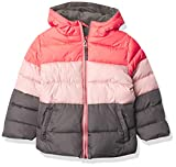 Pink Platinum Baby Girls' Puffer Jacket, Charcoal, 4T