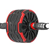 Abdominal Wheel Abdominal Wheel Men's and Women's Household Wheel Giant Wheel Automatic Rebound Fitness Equipment Ab Roller Wheel Exercise Equipment (Color : Black, Size : 40x20x12cm)