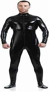 D DOLITY Shiny Spandex Full Body Suit Second Skin Bodysuit Zentai Unitard Black L
