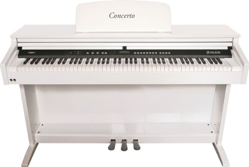 Delson/Ringway 8871 Piano meuble Concerto Blanc laqué