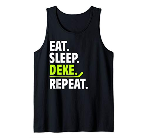 Eat Sleep Deke Repeat Lustige Hockey-Kleidung Ice Sport Tank Top