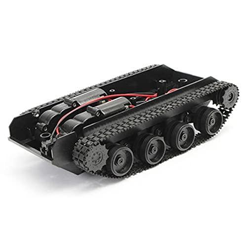 LSB-SHOWER Rc Serbatoio Intelligente Robot Tank Car Chassis Kit Cingolato in Gomma per Arduino 130 Motore Fai Da Te Robot Giocattoli Per Bambini (Colore: Nero)
