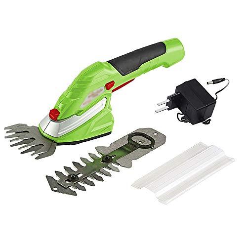 Syczdllj 3.6V sin cable cortasetos, 2-en-1 eléctrico de la mano Held podadora de césped cortasetos arbustos Clipper inalámbrico con pilas recargables for el jardín y césped cortasetos electrico
