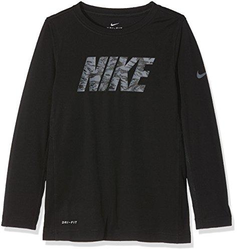 Nike B NK Dry Top LS GFX Legacy Shirt, Kinder S Black (Schwarz)