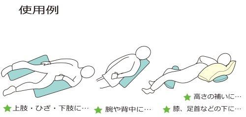 日本製ロングクッションベージュ介護床ずれ防止体位変換サポートクッション中綿シリーズ吸水・速乾素材洗える
