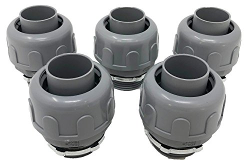 Sealproof 1-1/4-Inch Non-metallic Liquid Tight Straight Electrical Conduit Connector Fitting, UL Listed, 1-1/4