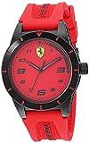 Ferrari Boy's RedRev Quartz TR90 and Silicone Strap Casual Watch, Color: Red (Model: 860008)