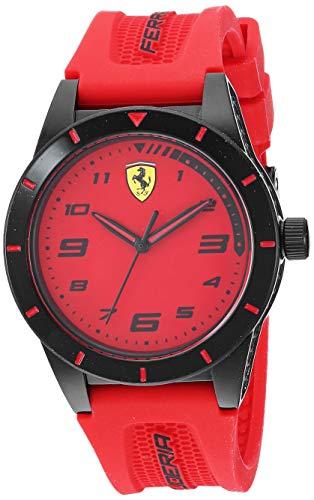 Ferrari RedRev - Reloj casual con correa de silicona para niño