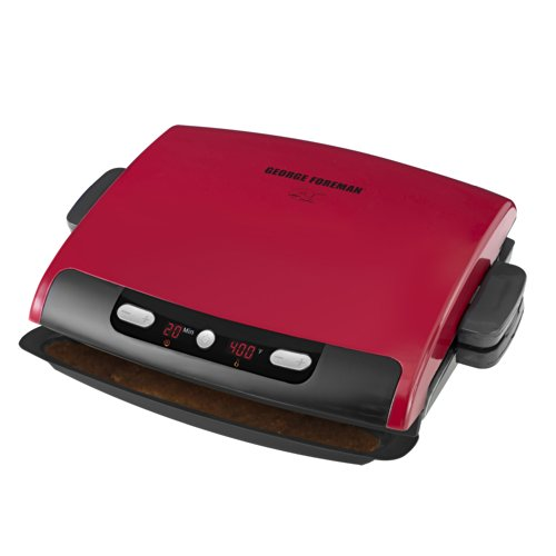 George Foreman 100-Inch Removable Plate Grill, Red