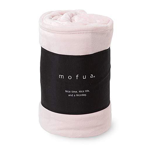 mofua(モフア) 毛布 シングル オールシーズン快適 エアコン対策 マイクロファイバー 洗える 140×200cm ライトピンク 50000191