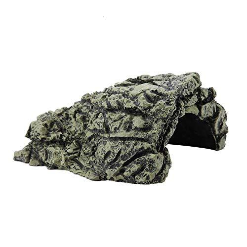 Schildkröte Aalen Plattform Aquarium Hide Cave natürlichen Lebensraum Rocks schwimmende Insel Aquarium Stein Dekor für semi-aquatische Tiere Reptil(Groß)