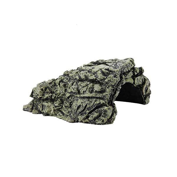 Garosa Stone Cave Shelter Hiding Turtle House for Reptile Turtle Frog Zoo Aquarium Decoration Ornament