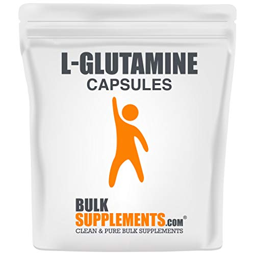 BulkSupplements.com L-Glutamine (100 Capsules - 50 Servings)