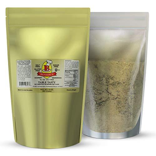 2 pound Salt Substitute - Table Tasty No Potassium Chloride Substitute For Salt - No Bitter Aftertaste - Good Flavor - No Sodium Salt Alternative - 2 Lb Resealable Bag