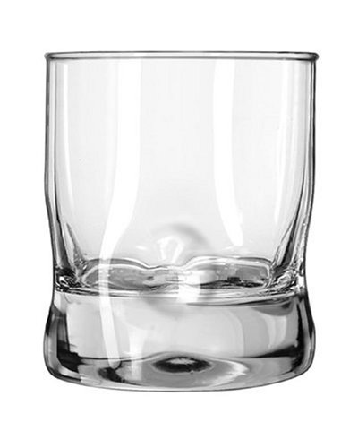 Libbey 9520096 Crisa Impressions 12-Ounce Double Old Fashioned Glass, Box of 12, Clear