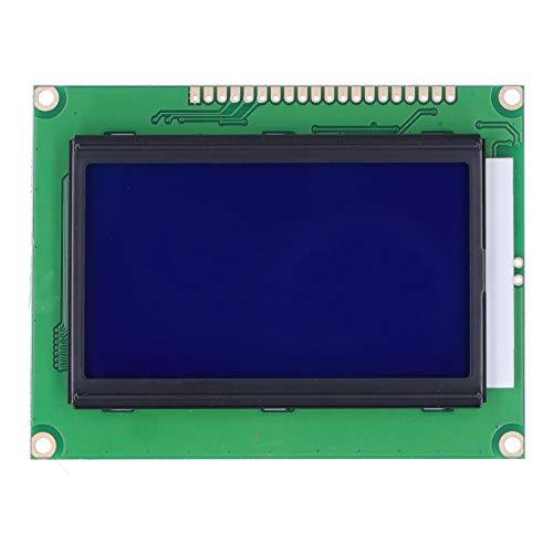 Módulo de Visualización, Pantalla Azul con Retroiluminación 12864-5V Placa de Módulo de Puerto Serie Paralelo LCD12864 con Tamaño Pequeño y Buen Rendimiento