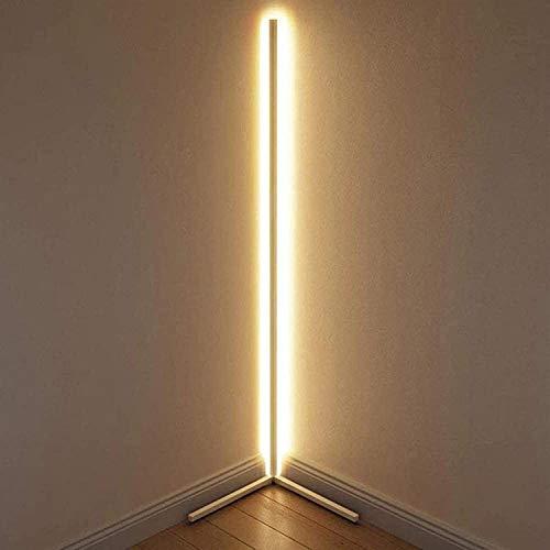 Raelf Lámpara de pie de luz LED minimalista Lámpara de la esquina con control remoto, lámpara mínima LED, trípode de diseño nórdico LED Lámpara Lámpara de piso, para sala de estar Estudio de dormitori