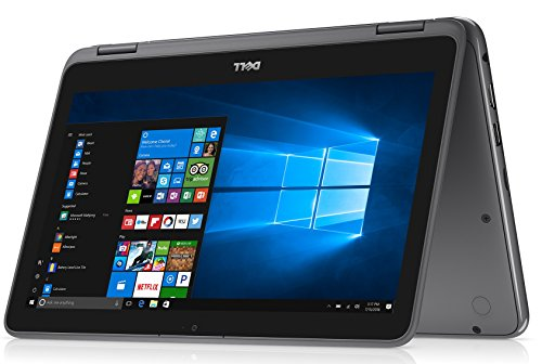 "Dell 2018 Newest Lightweight Inspiron 11.6"" Touchscreen 2 in 1 Laptop PC AMD A6-9220e Processor 4GB DDR4 RAM 32GB eMMC SSD Radeon R4 Graphics WiFi Webcam Bluetooth 3.2 Lbs Windows 10 (Grey)"