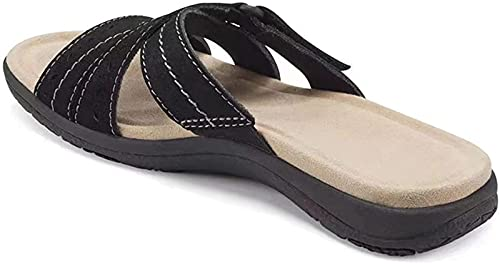 Woman Orthopedic Comfy Premium Round Toe Sandals, Casual Hollow Out Hook-and-Loop Design,...