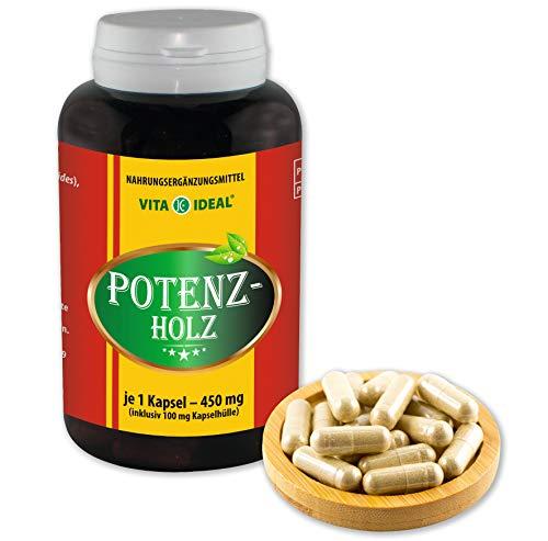 VITA IDEAL ® POTENZHOLZ (Muira puama, Ptychopetalum Olacoides) 180 Kapseln je 450mg, aus rein natürlichen Kräutern, ohne Zusatzstoffe