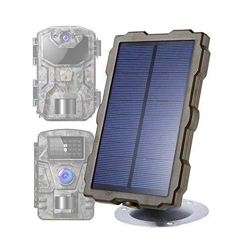 AWYLL Panel Solar Trail Camera, DC 6V / 1500mAh Banco de energía Solar Cargador portátil IP56 Sistema de protección de Circuito automático a Prueba de Agua con Kit de instalación