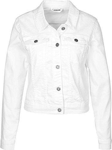 NAME IT Nmdebra L/s Denim Jacket Noos Chaqueta Vaquera, Blanco (Bright White Bright White), 38 (Talla del Fabricante: Small) para Mujer