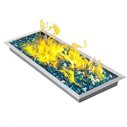 YUJIA Pozo De Fuego para Fogatas con Quemador para Interior/Exterior, Área De Combustión De 36 por 12 Pulgadas, Clasificada para hasta 150000 BTU '