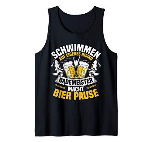 Bademeister Bier Schwimmen Baden Rettungsschwimmer Geschenk Tank Top