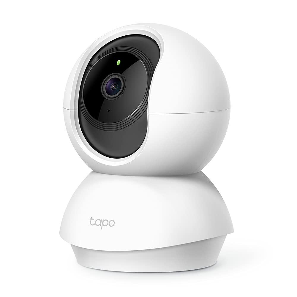 TP-LINK Tapo Wi-Fi Pan/Tilt Smart Security Camera, Indoor CCTV, 360° Rotational Views,...