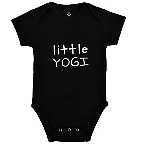 TREELANCE Yoga Onesie Baby. Organic Cotton Black Yoga Baby Clothes. Yoga Onesie for Babies. Organic Baby Shower Yoga Gift. Little Yogi 12 Months.