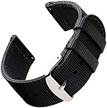 Archer Watch Straps - Premium Nylon Quick Release Replacement Watch Bands for Men and Women, Watches and Smartwatches (Black, 20mm)