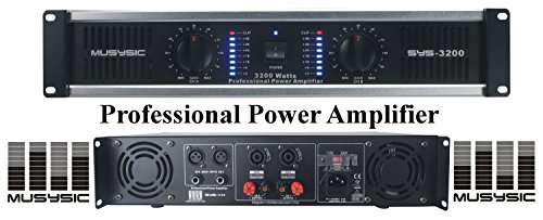 MUSYSIC 2 Channel 3200 Watts DJ PAProfessional Power Amplifier 2U Rack mount SYS-3200