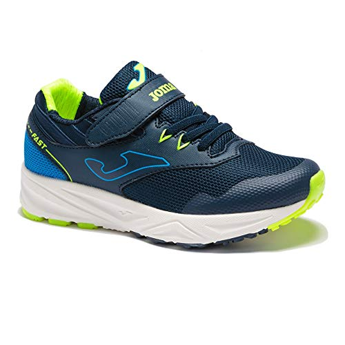JOMA Fast Jr 2103 Zapatillas de Running para Niño, Marino/Amarillo, EU 32
