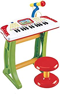 MeeYum Kids  Musical Instrument Piano Toy, Children Musical Toys, Electronic Organ Keyboard Piano W/ Karaoke Record and Playback, Microphone, Stool