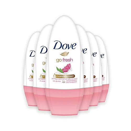 Dove Go Fresh Roll-On Deodorant with Pomegranate and Lemon-Verbena Scent (6 x 50 ml),