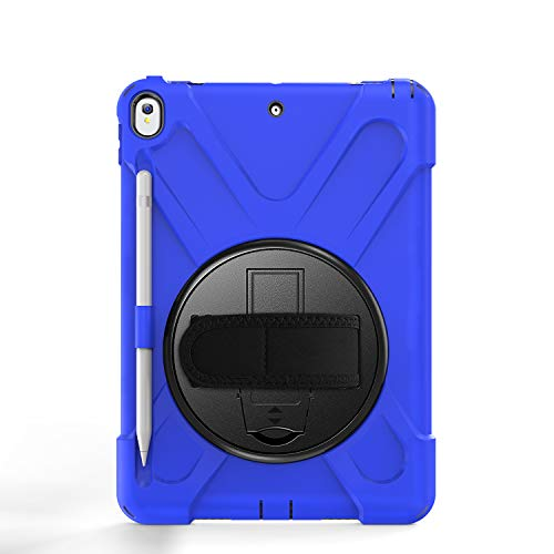 BlinkCat iPad Mini Case for iPad Air 4th Generation 10.9 inch 2020, Full Body Rugged Drop Protection Hybrid Shockproof Protective with Kickstand / Hand Strap+Shoulder Strap / Pencil Holder - Blue