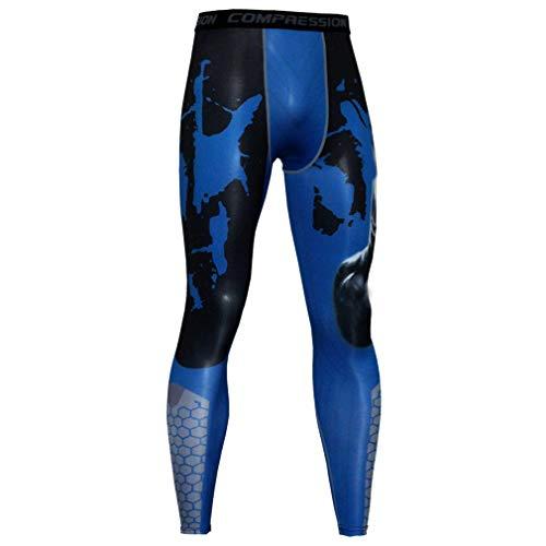 NATURET Compression Pants Baselayer Running Yoga Mens Sports Cool Dry Shaper Gym Workout Leggings Athletic (L, Multicolor4)