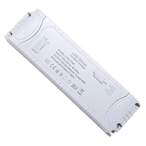VARICART IP44 24V 2.5A 60W TRIAC Dimmbar LED Treiber, Universal Reguliertes AC DC Schaltnetzteil, Konstanter Spannungswandler Adapter für LED-Streifen G4 MR11 MR16 GU5.3 Glühbirne (1-er Packung)
