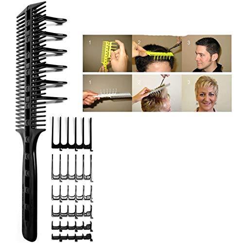 Haarkamm Haarschneidekamm Scherenschneider Überkamm, mit 6 Kammzähnen