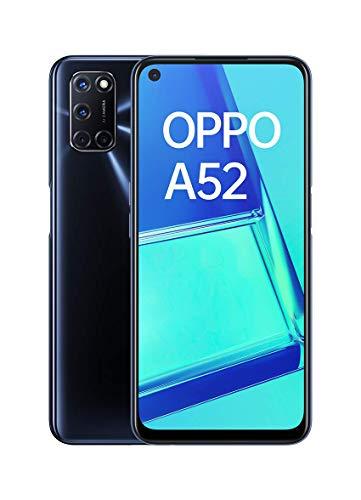 """OPPO A52 - Pantalla de 6.5"""" ( FHD+, 4GB/64GB, Snapdragon 665, 5.000 mAh, cámara trasera 12 + 8 + 2 + 2 MP, cámara frontal 8 MP, Android 10) Negro [Versión ES/PT]"""