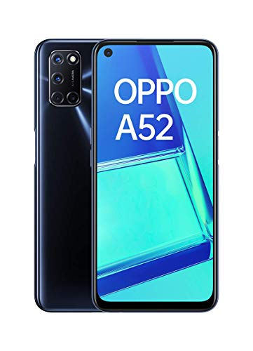 """OPPO A52 - Smartphone de 6.5"""" FHD+, 4GB/64GB, Octa-core, cámara trasera 12 + 8 + 2 + 2 MP, cámara frontal 8 MP, 5.000 mAh, Android 10, color Negro + Micro SD 64GBs"""