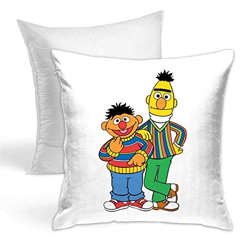 Sesame Street Comfortable Jupsero Kissenbezug Cover Set Decorative Jupsero Kissenbezug Cushion Cover Suitable for Sofa Bedroom Sofa Chair Car
