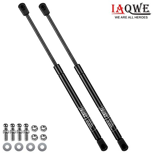 45Lbs/200N 16 Inch Gas Struts C16-15208 C16-22331 Lift Support Shocks for ARE Leer Camper Shell Topper Rear Window Truck Canopy Cap Lid by IAQWE