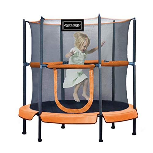 48' Kids Trampoline, with Safety Enclosure Net & Spring Pad, Bulit-in Zipper Heavy Duty Steel Frame, Outdoor Indoor Mini Trampolines for Kids