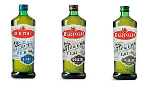Testpaket Bertolli Speiseöl Olio Extra Vergine Di Oliva Gentile Fragrante Robusto Extra Natives Olivenöl ( 3 x 1Lt ) 100% Italienisches Öl