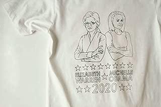 Michelle OBAMA Elizabeth WARREN 2020 presidential t-shirt