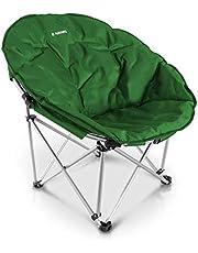 Navaris Moon Chair Vouwstoel rond - Campingstoel Outdoor Folding Chair - Campingstoel met tas - Vissersstoel Vouwstoel - Vouwstoel diverse kleuren