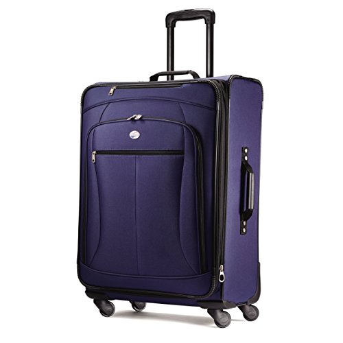 American Tourister Luggage Pop Extra 25' Spinner Suitcase (25', Navy)