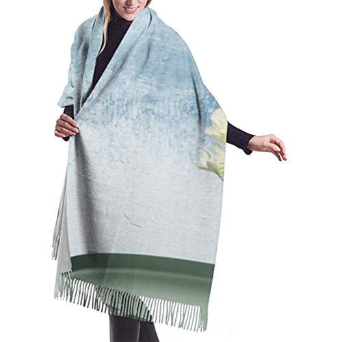 Archiba Winter-Schal-Kaschmir-Gefühl-Vase Schöne Gladiolen-Blumen auf Tabellen-Schals Stilvoller Schal wickelt weiche warme Decken-Schals für Frauen ein