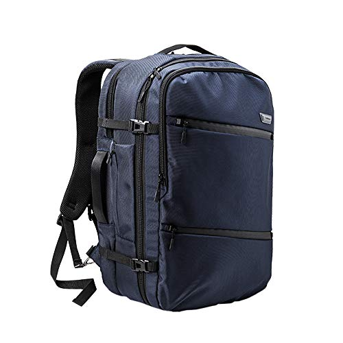 Cabin Max Tromso Carry on Luggage 55x35x20 - Padded Laptop Sleeve Within (City Navy)